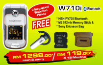 Sony Ericsson W710i Promotion Package